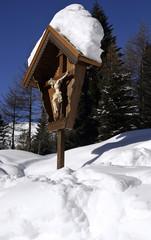Crucifix in the snow