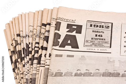 Staande foto Kranten Old russian newspapers