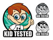 Kid Tested Scientist Seal / Mark / Icon