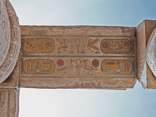 Hieroglyphic carvings at Karnak temple