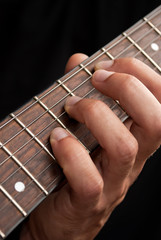 Guitar and hand