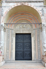 Italy Ferrara St George's cathedral main door