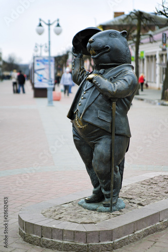 Sculpture of the beaver - a symbol of Bobruisk, Belarus by Mikhail ...
