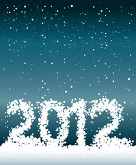 2012 Happy New Year greeting card.