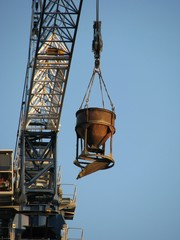 Crane with bunker