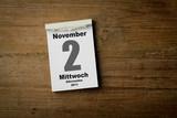 Allerseelen 2 November poster