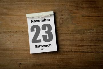 23 November