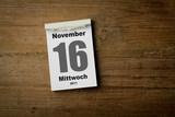 16 November poster