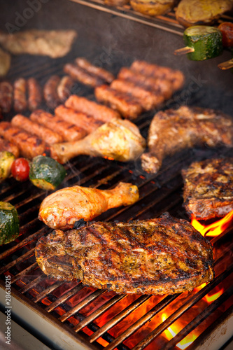 Steak on BBQ - 28638215
