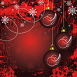 Merry Christmas and Happy New Year red vector background