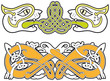 Set of celtic animals design elements