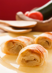 Potato filo pastry