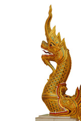 king of Nagas on white background