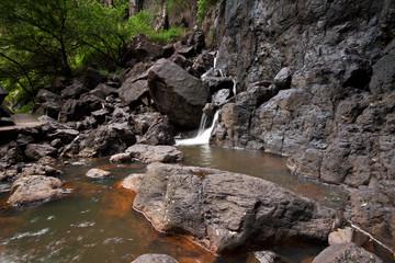 little cascade at rock pool