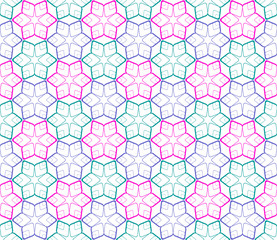 Seamless color pattern on white.