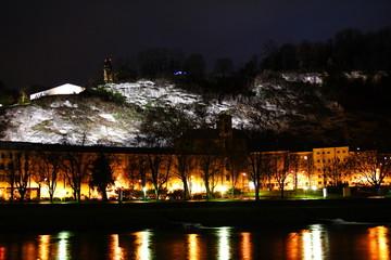 Salzach in the night