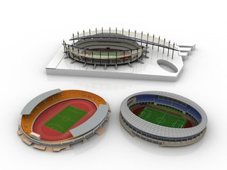 stadio rendering 3d progetto