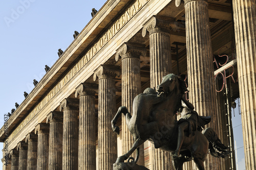 Front view of the Altes Museum, Berlin, Germany