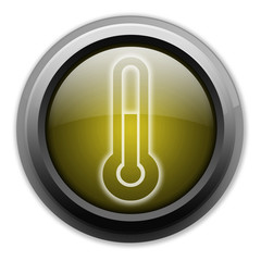 "Yellow Button (Dark/Glow) ""Temperature / Thermometer"""