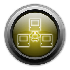 "Yellow Button (Dark/Glow) ""Network"""