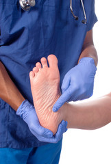 Podiatrist point to planters facitious