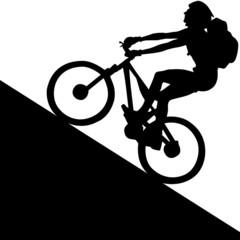 Radfahrer Mountainbike