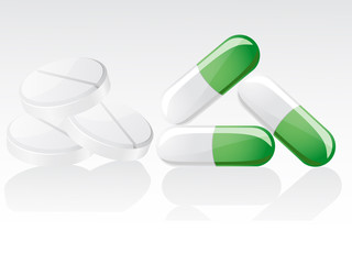 pills vector illustration