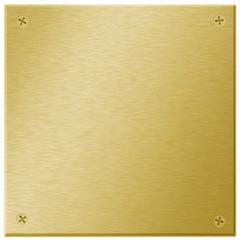 Golden Metal Plate/Plaque
