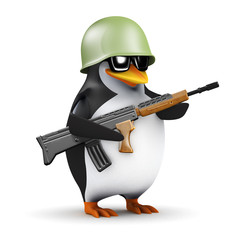 3d Penguin soldier