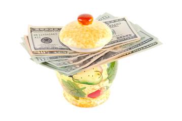 Money in a pot