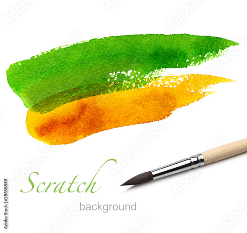 brush and paint scratch