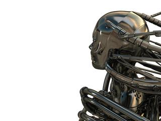 Robotic head backward