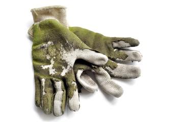 worn out garden gloves