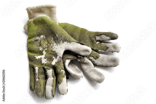 worn out garden gloves