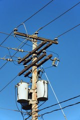 Electrical post and transformers