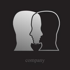 Logo dual personality # Vector