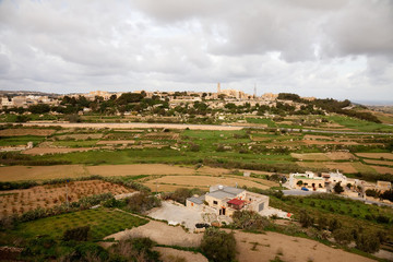 Top view  of Malta country