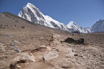 Track in the Himalaya Mountains near Everest Base Camp