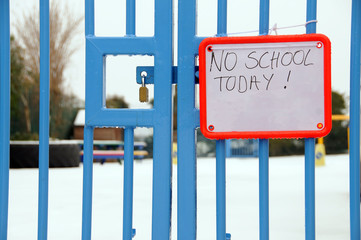 British school closed due to heavy snowfall