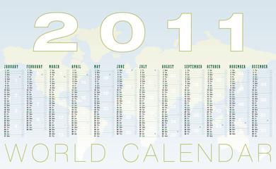 calendario 2011 planisfero geografico