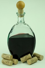 Rotweinflasche mit Korken