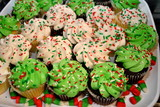 Tray of Christmas Cupcakes poster