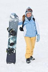 Snowboard ride.