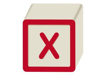 Letra X abecedario Infantil