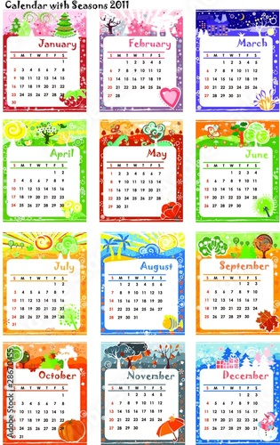 Calendar 2011 with Seasons Complete - 28670455