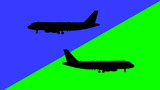 Two airplane flying in the opposite direction