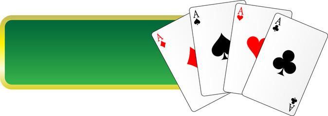 banner gambling cards casino