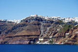 Coastline with Cliffs of Santorini Island, Greece
