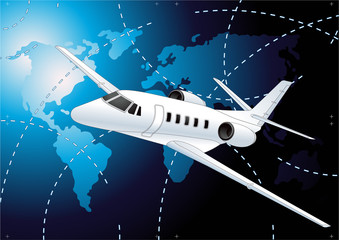 Plane. Vector illustration background