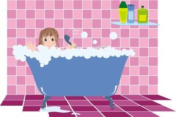 baby in bathroom